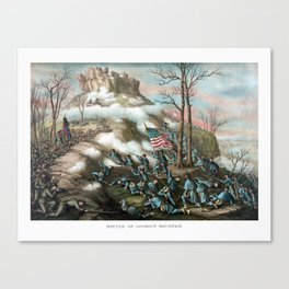 Battle of Lookout Mountain -- Civil War Canvas Print