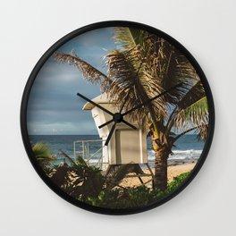 Hawaii Lifeguard Post Wall Clock