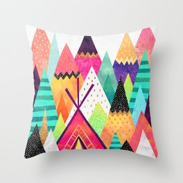 Land of Color Throw Pillow