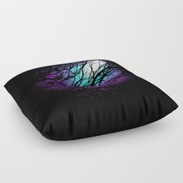 lights in the forest Floor Pillow