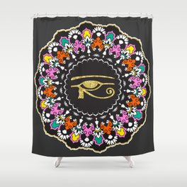 Eye of Horus Mandala Shower Curtain