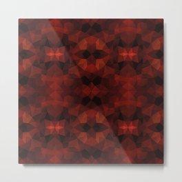 Red and black kaleidoscopic design Metal Print