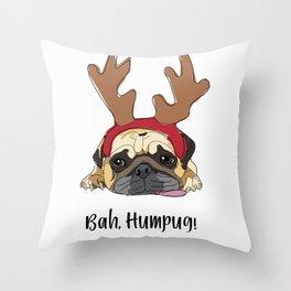 Bah Humpug Throw Pillow