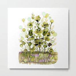 Floral Charm No.1H by Kathy Morton Stanion Metal Print