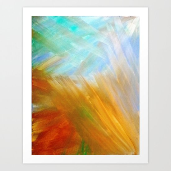 Sand & Water abstract Art Print