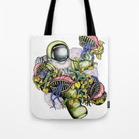 spaceman Tote Bags featuring SPACEMAN by • PASXALY •