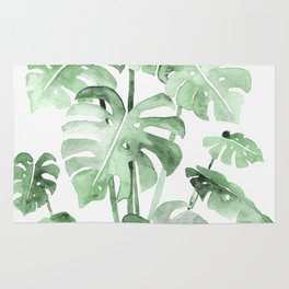 Delicate Monstera Green #society6 Rug