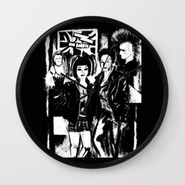 Alternative fashion and leather jacket style at the club Wall Clock