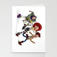 toy story Stationery Cards featuring Toy Story by Max Jones