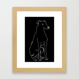 Greyhound (White) Framed Art Print