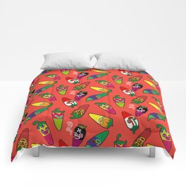 Red Hot Chili Pattern 01 Comforters