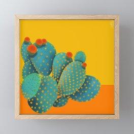 Prickly Pear Cactus Framed Mini Art Print