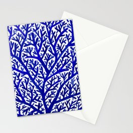 Fan Coral – Navy Stationery Cards