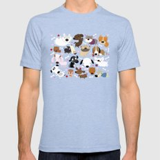 Dog pattern MEDIUM Tri-Blue Mens Fitted Tee