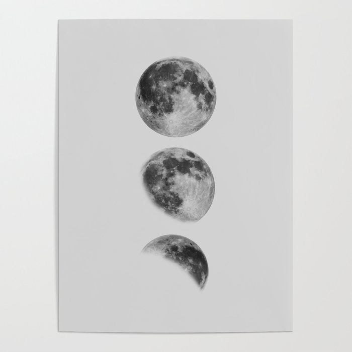 Moon Phase Wall Art Moon Home Decor Moon Phases Nursery Decor Poster  Minimalist Print Gothic Boho Poster by themotivatedtype
