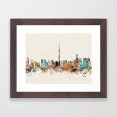 Toronto Ontario skyline Framed Art Print