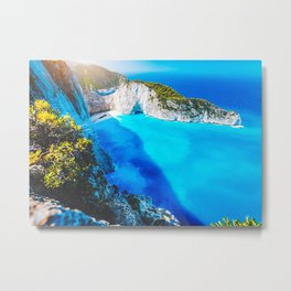 Panorama Of Navagio Beach Metal Print
