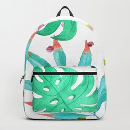 Tropical dots and leaves Backpack