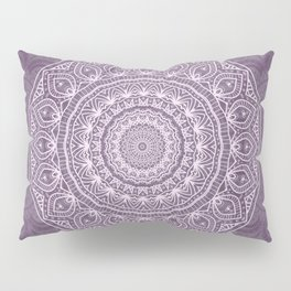 White Lace on Lavender Pillow Sham