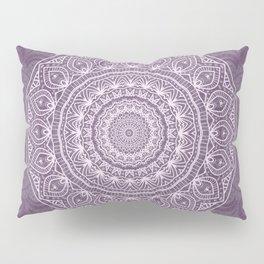 White Lace on Lavender Pillow Sham
