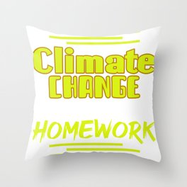 Worst Homework Throw Pillow