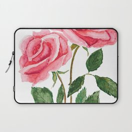 two pink roses watercolor Laptop Sleeve