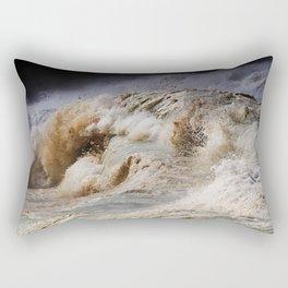 Monster Waves At Pipeline Rectangular Pillow