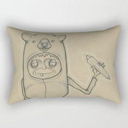 Bear Guy Spirit Animal Rectangular Pillow