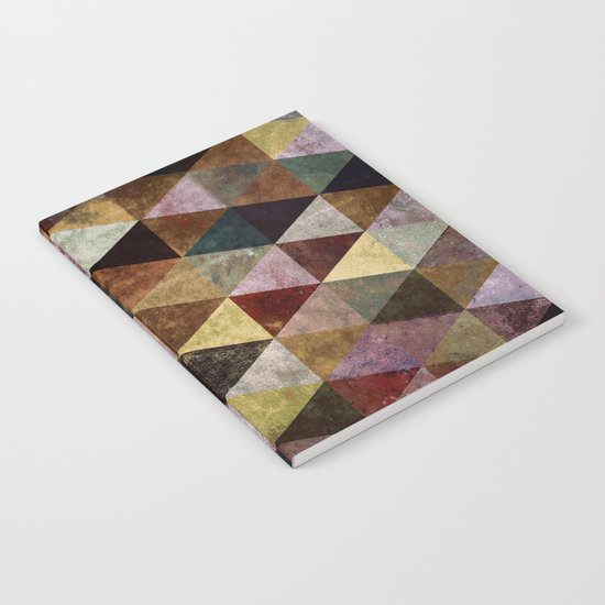 Abstract #399 Peat Bog Grunge Notebook