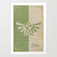 Legend of Zelda: Triforce Art Print