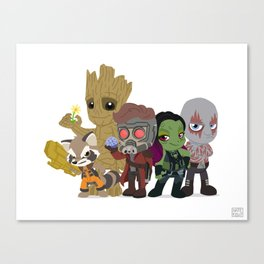 Guarding the Galaxy Canvas Print