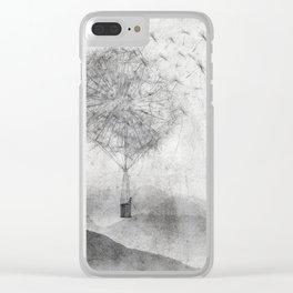 Dandelion Daydream Clear iPhone Case