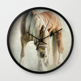 Gypsy in the morning mist Wall Clock