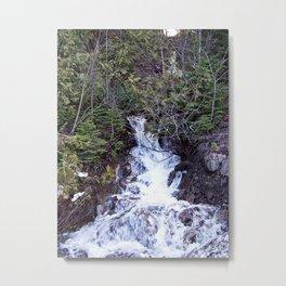Mountain Cascade Metal Print