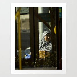Waiting. (Victoria Market tram stop, 2012) Art Print