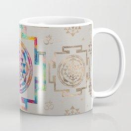 Sri Yantra  / Sri Chakra in color on canvas Coffee Mug