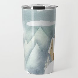 Winter in the Alpes Travel Mug