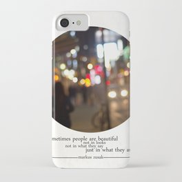 people are beautiful iPhone Case