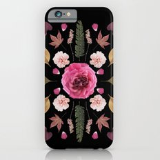 BOTANICAL COLLAGE N1 BLACK BACKGROUND iPhone 6s Slim Case
