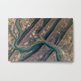 05. Space Station Crew Snaps an Image of the Susquehanna River Metal Print
