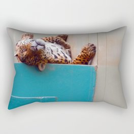 Reclining Jaguar Rectangular Pillow