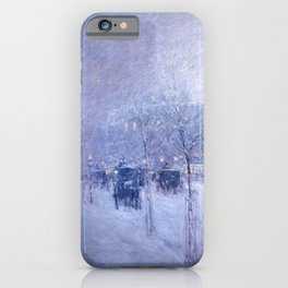 Childe Hassam - Late Afternoon, New York, Winter iPhone Case