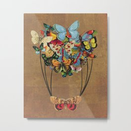 Flutter Away Metal Print