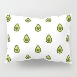 Avocado Hearts (white background) Pillow Sham