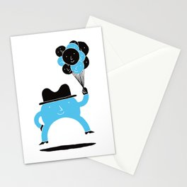 Blue-Boy Balloon Stationery Cards