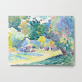 Watercolor Landscape by Henri-Edmond Cross 1904 Neo-Impressionism Pointillism Watercolor Metal Print
