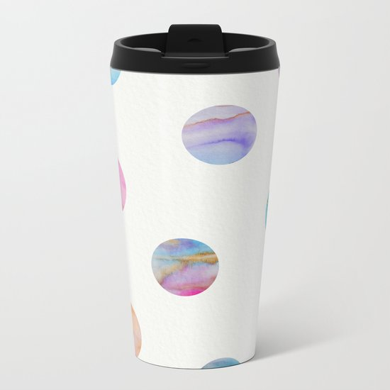 Marble Polka Dots Metal Travel Mug