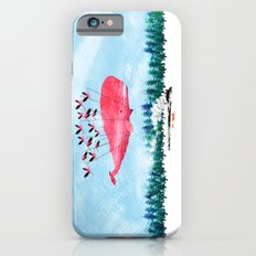 Flying Whale and steam train iPhone 6s Slim Case