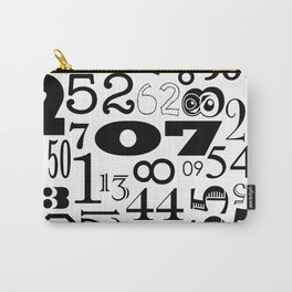 The Numbers in Black and White Carry-All Pouch