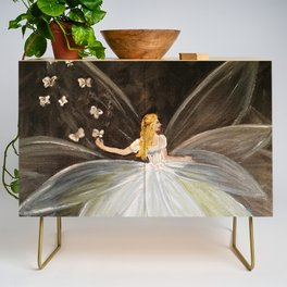 Golden Butterfly Fairy Credenza